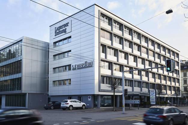 Das LZ-Medienhaus, welches zur CH-Media-Gruppe gehört, an der Maihofstrasse in Luzern.