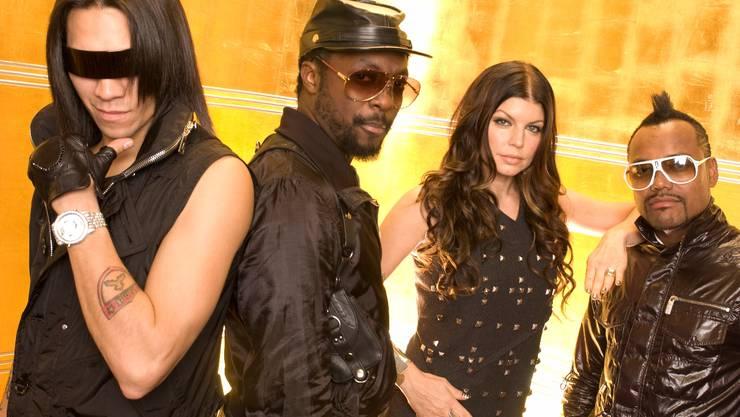 The Black Eyed Peas mit Taboo, Will.I.Am, Fergie und Apl.de.ap (v. l.). Keystone