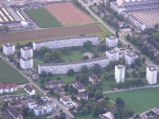 Die Siedlung Widenhof und Hochhäuser in Birr
