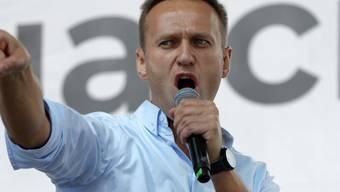 Anhänger des russischen Oppositionellen Alexei Nawalny haben bei den Regionalwahlen in Sibirien seltene Erfolge erzielt. (Archivbild)