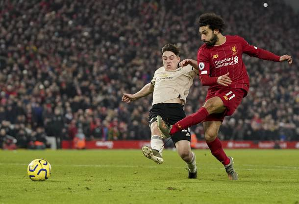 Schiesst das 2:0 gegen Manchester United: Mohamed Salah.