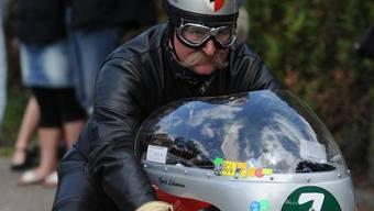 Starkoch Lichter schaltet auf dem Motorrad ab