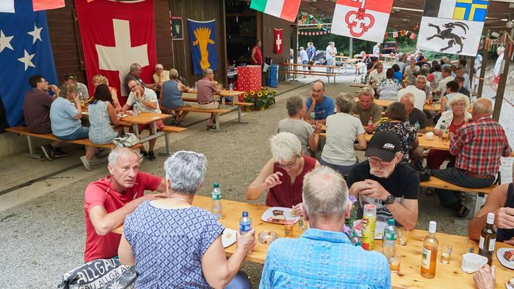 Impressionen der Bundesfeier 2020 im Waldhaus in Rüfenach.
