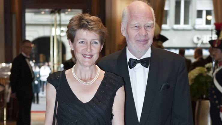 Justizministerin Sommaruga mit Ehemann Lukas Hartmann.