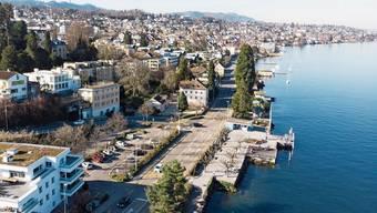 Das Seewasser für den Thalwiler Energieverbund würde vor der Schiffsstation, 250 bis 450 Meter vom Ufer entfernt, gefasst.