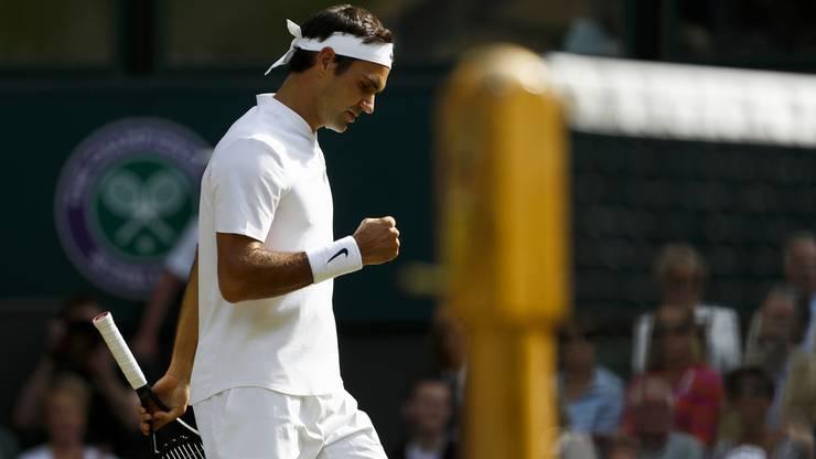 Federer gewann den ersten Satz im Tiebreak.
