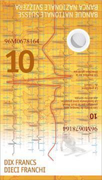 Die neue 10er-Note von vorne...