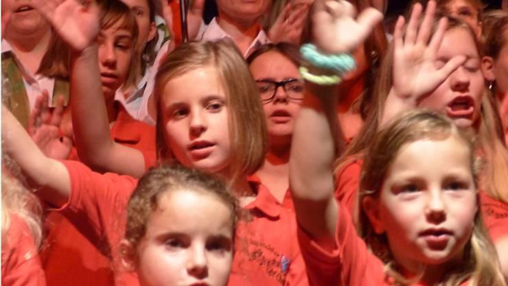 Der Jugendchor begeistert im Konzert mit den Friday Night Singers.ARI