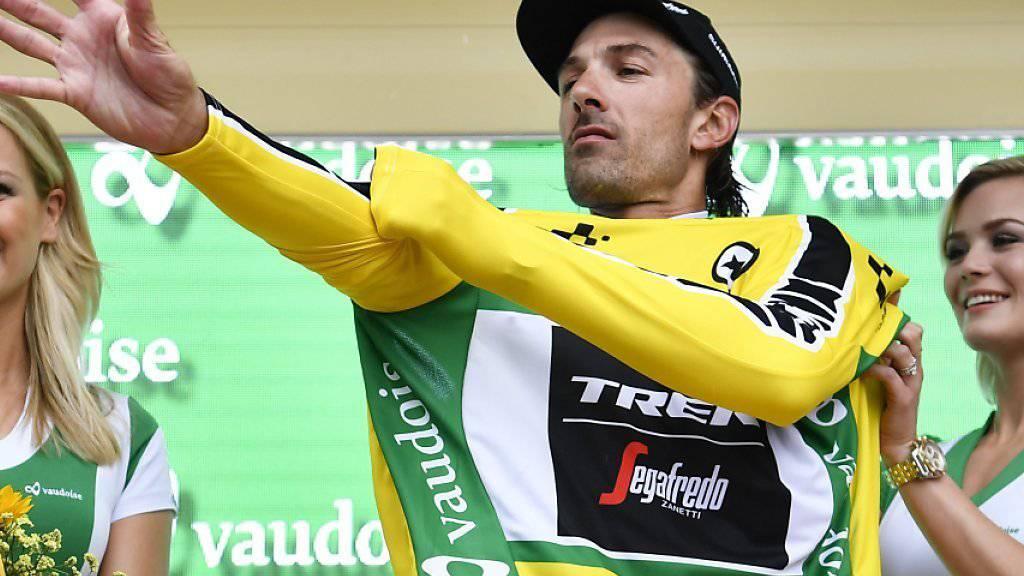 Erhielt am Samstag in Baar das Maillot jaune: der Berner Fabian Cancellara