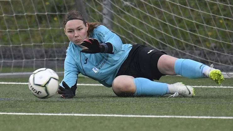 Liga-Bestwert: Laura Vogt musste in der laufenden Saison in acht Partien nur achtmal hinter sich greifen.
