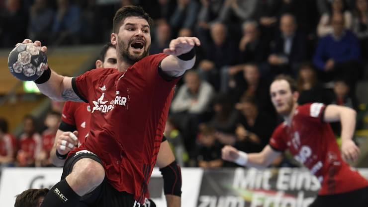 HSC-Topskorer Milan Skvaril und sein Team wollen zum Abschluss der Finalrunde noch einen Heimsieg gegen den BSV Bern Muri.