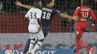 Zlatan Ibrahimovic jubelt nach seinem Treffer zum 2:0