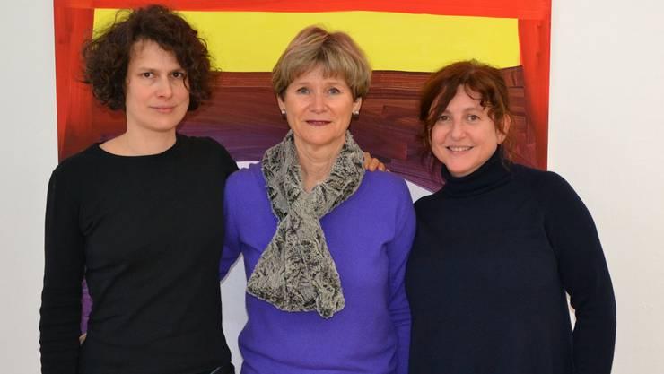 Das Lachen ist den Frauen nicht vergangen: (vl.) Katja Herlach, Gabriele Bono und Dorothee Messmer.