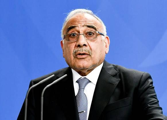 Der irakische Regierungschef Adel Abdel Mahdi kritisiert die USA für ihr Vorgehen scharf.