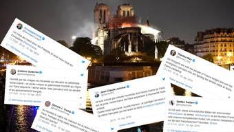 Tweets zu Notre-Dame-Brand
