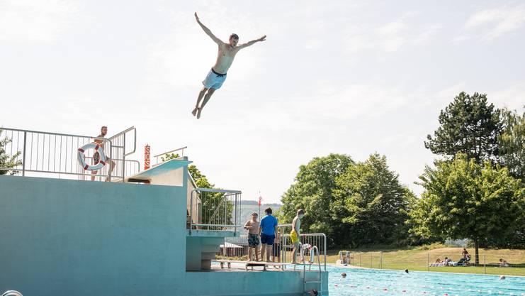 Schwimmbad Wiemel Würenlos, Badi, Sommer, Schwimmen