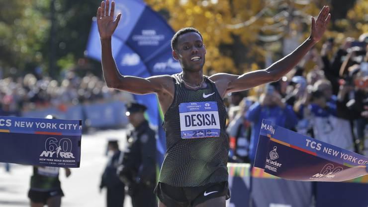 Lelisa Desisa überquerte als Erster die Ziellinie