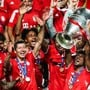 So sah es vor knapp zwei Monaten aus: Bayern München jubelt nach dem Final in München mit dem Champions-League-Pokal. Der deutsche Meister gehört auch in der neuen Saison zu den Topfavoriten