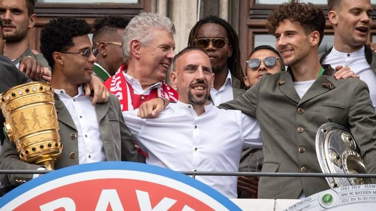 Darf Bayern München auch nach dem Ende der laufenden Saison wieder jubeln? Momentan hat der Tabellenführer der Bundesliga gute Karten.