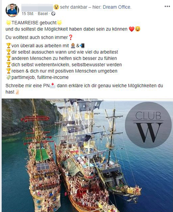 So werben die Verkäufer auf ihrer Facebook-Seite.