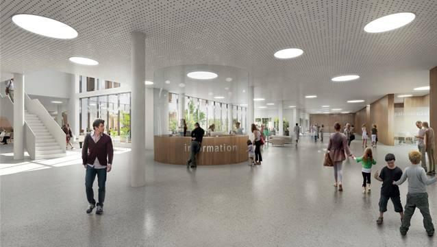 Auf gutem Weg: So soll das neue Spital Limmattal gemäss Projekt des Totalunternehmers Losinger Marazzi dereinst aussehen.