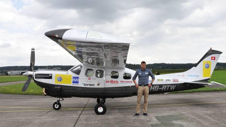 Wenn alles klappt, wird Carlo Schmid mit seiner Cessna in 17 Tagen in Dübendorf landen. Silvan Hartmann
