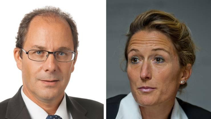 Passen politisch zusammen wie die Faust aufs Auge: Spitalchef Adrian Schmitter und Gesundheitsdirektorin Susanne Hochuli.