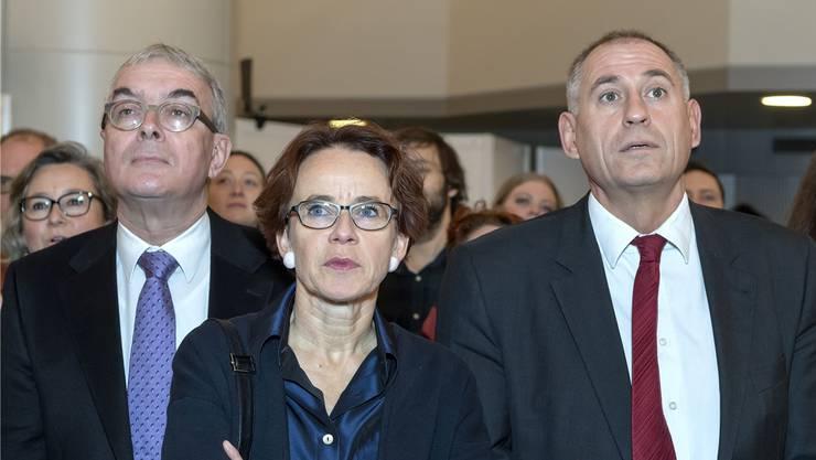 Innert weniger Monate verliert die wählerstärkste Basler Partei alle ihre Alphatiere in der Regierung: Christoph Brutschin, Eva Herzog und Hans-Peter Wessels. (Archivbild)