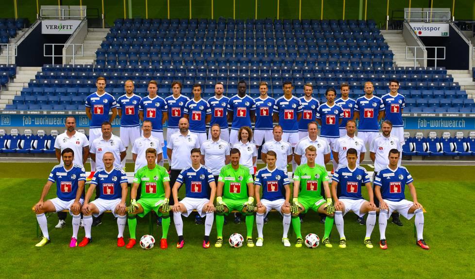 FCL-Mannschaftsfoto Saison 2016/17