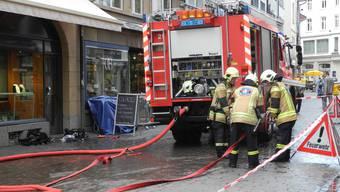 Gasbrand in der Basler Innenstadt