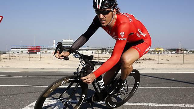 Fabian Cancellara unterwegs auf dem Motorrad-Rundkurs von Lusail