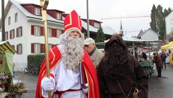 Der Samichlaus am Muulaffemärt in Urdorf