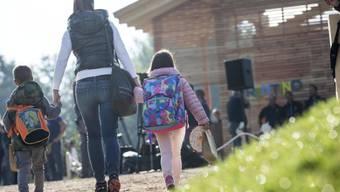 Erster Schultag in Amatrice nach dem Erdbeben.
