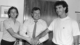 Der verstorbene Gerhard Strack (ganz rechts) spielte einst für den FC Basel.