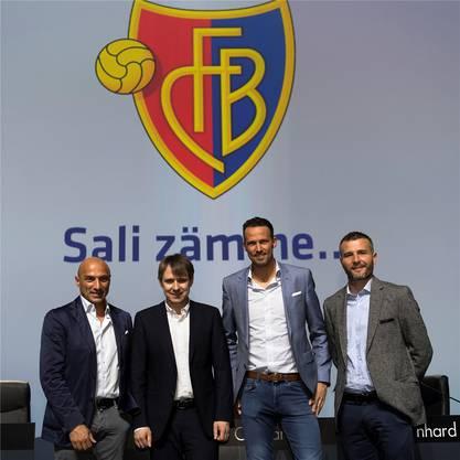 Die FCB-Führung seit letztem Sommer: Massimo Ceccaroni, Bernhard Burgener, Marco Streller und Alex Frei.