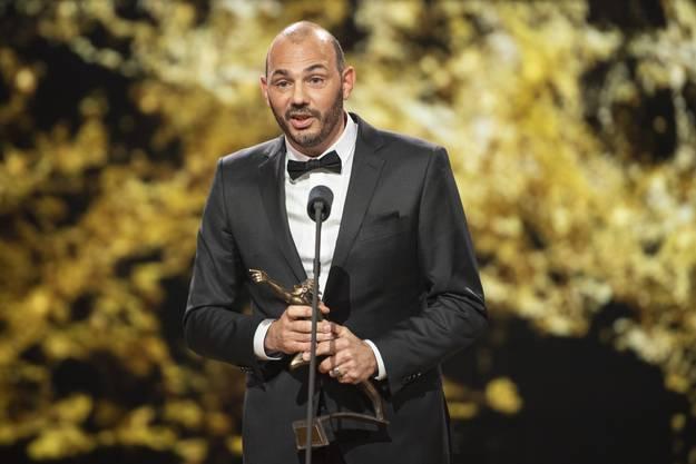 Sonst im Hintergrund, bei den Sports Awards auf der Bühne: Adrian Rothenbühler.