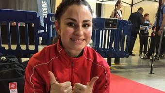 Elena Quirici freut sich riesig über ihren Europameistertitel.