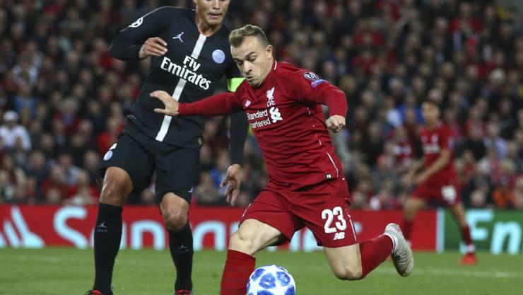 Starker Auftritt für Liverpool: Xherdan Shaqiri (im Bild in der Champions League gegen Paris Saint-Germain)