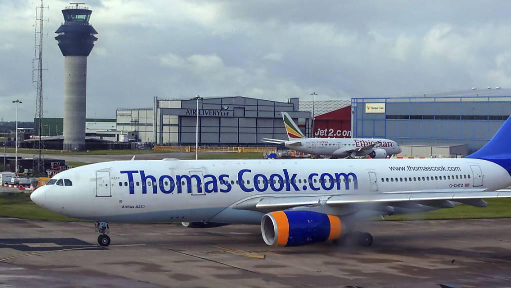 Der britische Reisekonzern Thomas Cook ist Pleite. Betroffen sind rund 600'000 Urlauber. Ab Montag sind alle Flüge gestrichen. (Symbolbild)