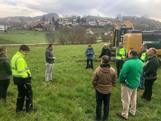 Begrüssung zum Spatenstich für den Werkhofneubau in Egliswil