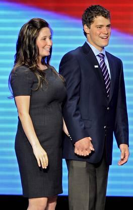 Da war die Welt noch halbwegs in Ordnung: Levi Johnston mit Freundin Bristol Palin während einem Polit-Anlass von Sarah Palin.