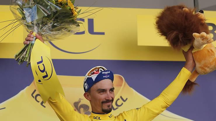 Trägt Gelb mit Stolz: der Franzose Julian Alaphilippe