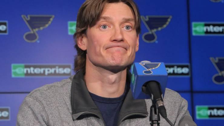 Fühlt sich besser, aber nicht in der Lage, in dieser Saison noch Eishockey zu spielen; Jay Bouwmeester von den St. Louis Blues