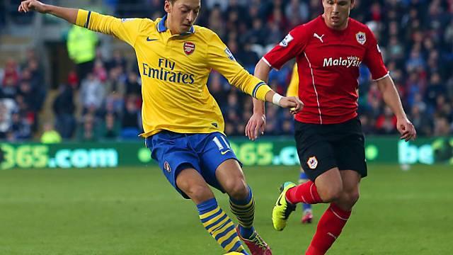 Bereitete zwei Tore Arsenals vor: Mesut Özil
