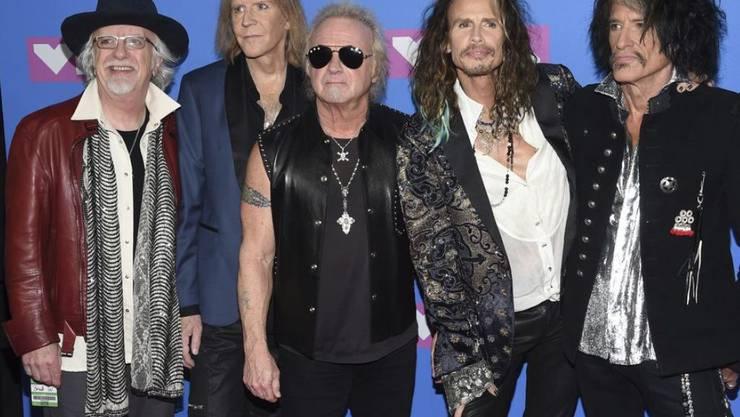 Die Band Aerosmith mit Steven Tyler (zweiter von rechts) will nicht, dass Donald Trump ihre Songs spielt. (Archiv)
