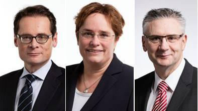 Steigen in die Parteileitung auf: Roger Köppel, Magdalena Martullo-Blocher und Andreas Glarner.