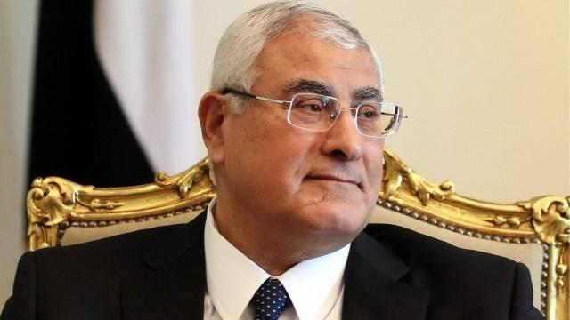 Will Frieden: Ägyptens Übergangspräsident Adli Mansur (Archiv)
