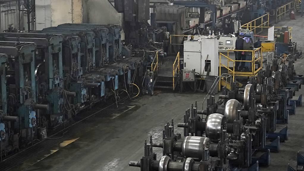 In der US-Industrie ist der Auftragseingang im April gesunken. (Archiv)