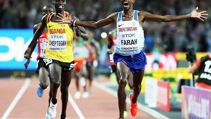 Mo Farah ist an internationalen Titelkämpfen über die Langstrecken seit 2011 ungeschlagen