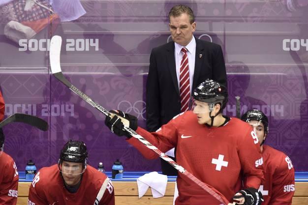 Der Anfang vom Ende: Das Achtelfinalspiel gegen Lettland an Olympia in Sotschi. Die Schweizer verlieren 3:1.